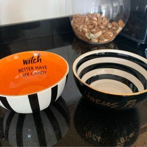 Halloween Candy Bowls Dishes